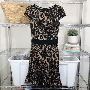TADASHI SHOJI x Anthropologie lace black dress